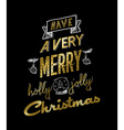 Gold christmas greeting card design with doodles vector image vector image