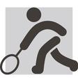 2293 tennis icon vector image