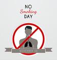 No smoking day poster vector image