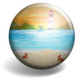 Beach badge vector image vector image