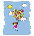 Baby girl flying vector image