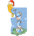 Cow clean the moon Cartoon vector image vector image