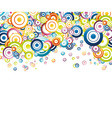 colorful rainbow circle background vector image vector image