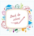 Back to school school background of school vector image