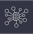 bitcoins digital currency technology editable vector image