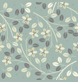 cute seamless pattern with decorative flowers and vector image