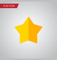 isolated star flat icon starlet element vector image