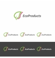 logo template for eco - products vector image