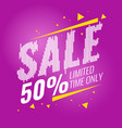 poster sale for a limited time only vector image