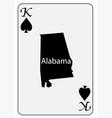 usa playing card king spades vector image