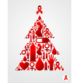 Christmas tree with AIDS icons vector image