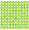 100 marketing icons set green circle vector image vector image