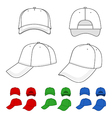 Cap outlined template vector image vector image