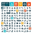big fitness icins set vector image vector image