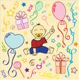 babys birthday holiday texture in vector vector image vector image