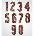 Trendy bold numbers design decorated with vector image