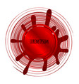 abstract splash logo concept red label vector image