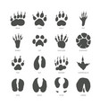 animal trails - modern isolated set vector image