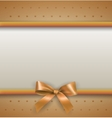background with bow gold vector image
