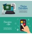 banner online education infographic design vector image