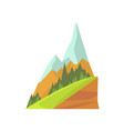 cartoon mountain landscape with two snowy peaks vector image