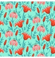 floral pattern with tulips and lilies vector image
