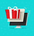 gift from computer flat vector image