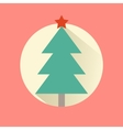 Happy New Year icon set of flat design christmas vector image