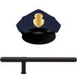 Policeman uniform vector image