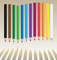 Wavy pencils vector image