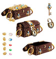 treasure chest with gold decorated vector image