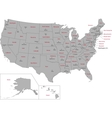 Gray USA map vector image