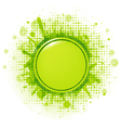 Green Blobs With Speech Bubble vector image vector image