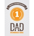 Dad number one 1 vector image