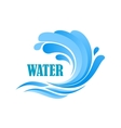 Sea wave with blue water splashes vector image vector image