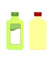 Packaging bottles vector image