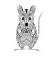 Zentangle Possum totem for adult anti stress vector image