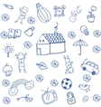 Funny doodle art for kids vector image