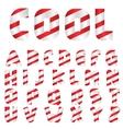 Candy letter set vector image