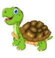 cut cartoon turtle posing vector image