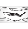 Butterfly Swimmer Silhouette Sport swimming vector image