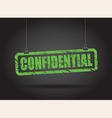 confidential green vector image