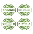 Grunge Rubber Stamp Set Organic Product Certified vector image