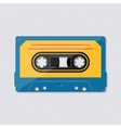 Retro music cassette tape icon vector image