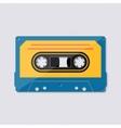 Retro music cassette tape icon vector image