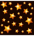 Seamless Pattern with Gold Stars on Dark vector image