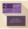 simple abstract paper color business card design vector image