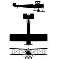 Avro 504K biplane vector image vector image