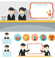 Male and Female Hotel Receptionist Frame Element vector image