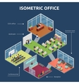 Isometric Office 3 Floor Building Plan vector image